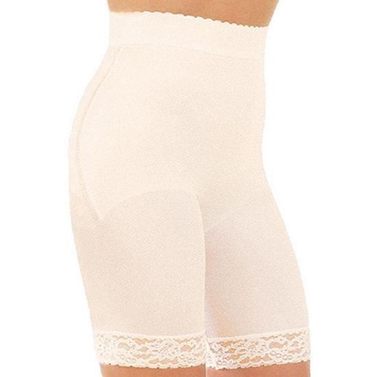 Rago Plus High Waist Hidden Tummy Panel Stretch-Lace Light Control Thigh Slimmers - 518p