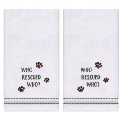 Saturday Knight Rescued 2-pc. Embroidered Animals + Insects Hand Towel