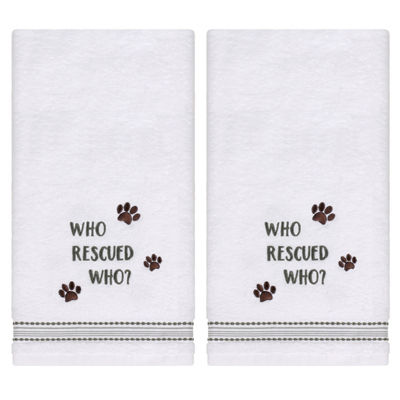 Saturday Knight Rescued 2-pc. Embroidered Hand Towel