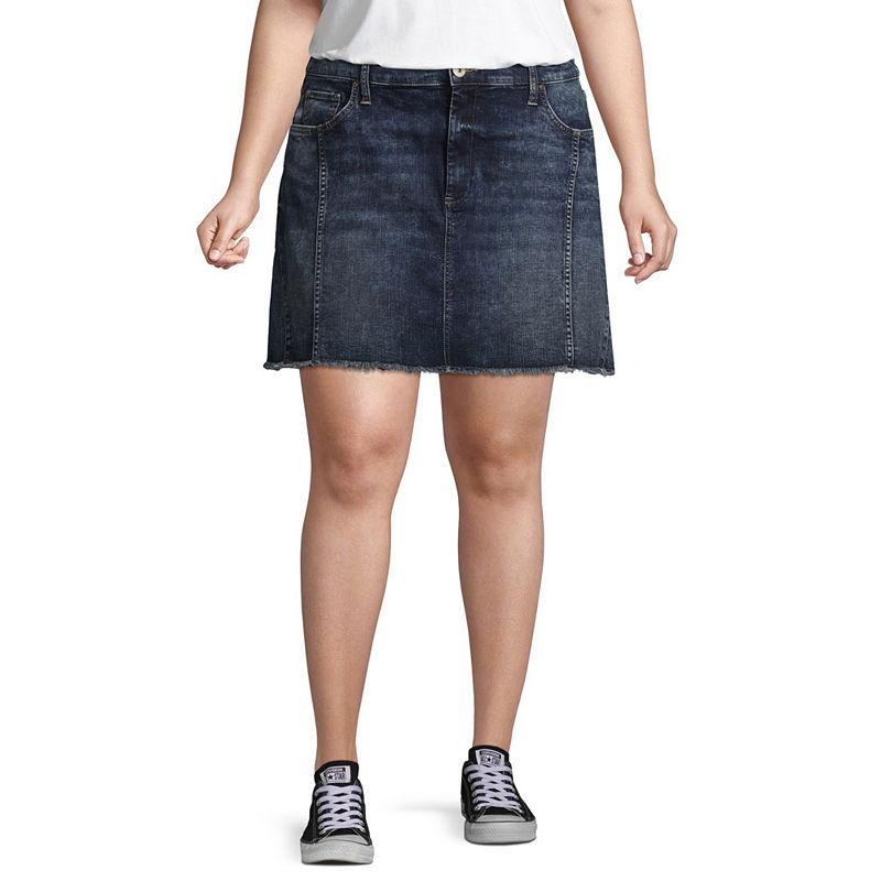 image of Arizona Princess Seamed Denim Skirt-ppr5007653071