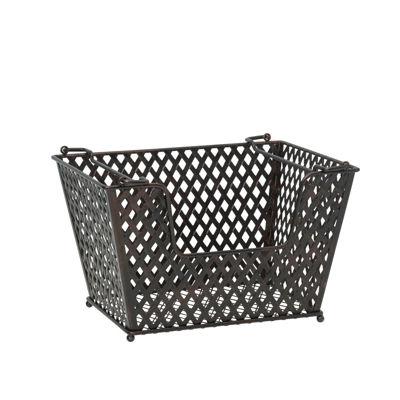 Gourmet Basics by Mikasa Laredo Stacking Wire Basket Over Cabinet Storage