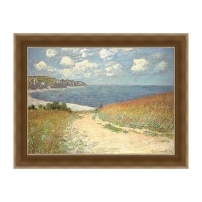 Chemin Dans Les Bles A Pourville - Monet Framed Print