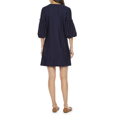 Vivi By Violet Weekend 3/4 Sleeve Shift Dress