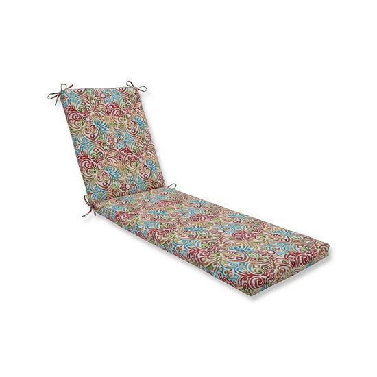Pillow Perfect Corinthian Dapple Oversized Patio Chaise Lounge Cushion