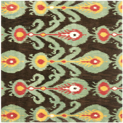 Safavieh Ikat Collection Hollie Floral Square AreaRug