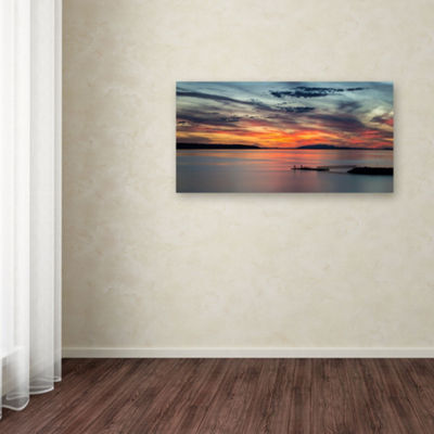 Trademark Fine Art Pierre Leclerc Sunset Pier Giclee Canvas Art