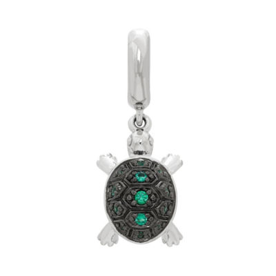 Ps Personal Style Green Crystal Sterling Silver Charm
