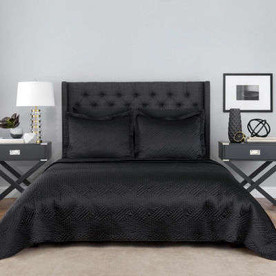 Lionel Richie Black 3-pc. Coverlet Set