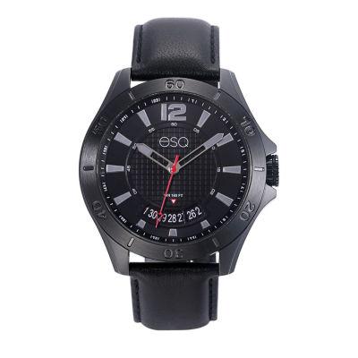 Esq Mens Black Strap Watch-37esq018001a