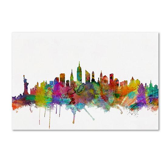 Trademark Fine Art Michael Tompsett New York City Skyline Giclee Canvas Art