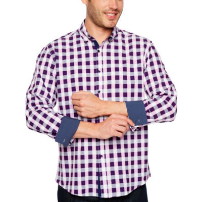 Society Of Threads 4 Way Stretch Long Sleeve Button-DownShirt