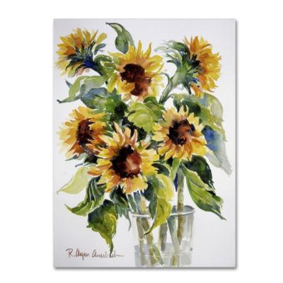 Trademark Fine Art Rita Auerbach Sunflowers GicleeCanvas Art