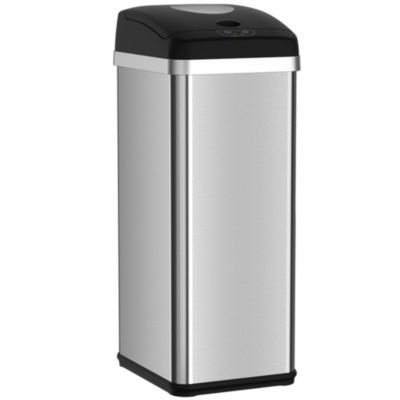 ITouchless Halo 13 Gallon Touchless Trash Compactor Automatic Trash Can,  Stainless Steel Sensor Kitchen Trash