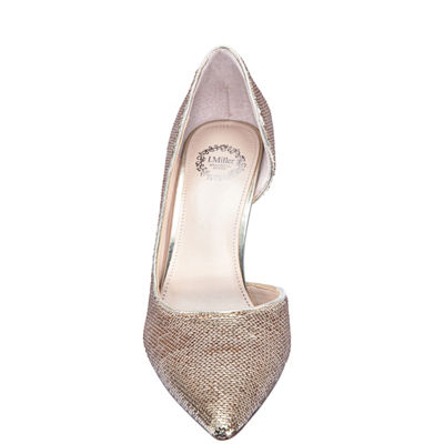 I Miller Shoes Womens Cathia Pumps Slip-on Pointed Toe Cone Heel