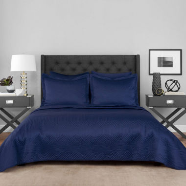 Lionel Richie Navy 3-pc. Coverlet Set