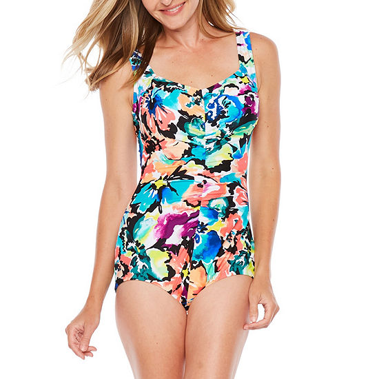 42f46d067f7d0 Azul by Maxine of Hollywood Pattern One Piece Swimsuit JCPenney