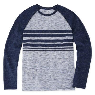 Arizona Long Sleeve Textured T-Shirt Boys 4-20