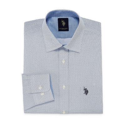 U.S. Polo Assn. Uspa Dress Shirt Long Sleeve Dots Dress Shirt