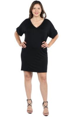24/7 Comfort Apparel Ashton Mini Dress - Plus
