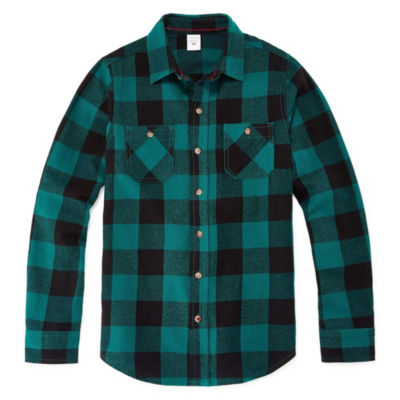Peyton & Parker Long Sleeve Flannel Shirt Boys 6-20