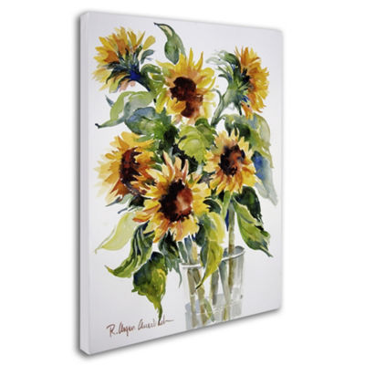 Trademark Fine Art Rita Auerbach Sunflowers GicleeCanvas Art