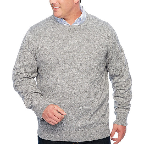 The Foundry Big & Tall Supply Co. Crew Neck Long Sleeve Pullover Sweater