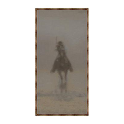 Rider III Panel Framed Canvas Art