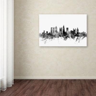 Trademark Fine Art Michael Tompsett Atlanta Georgia Skyline B&W Giclee Canvas Art