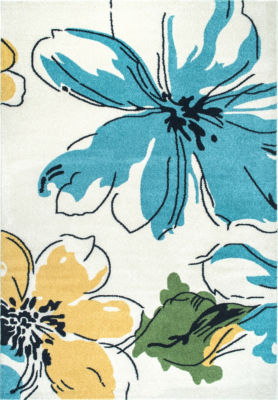 nuLoom Barbosa Floral Abstract Area Rug