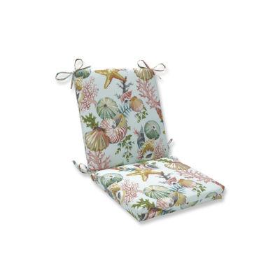 Pillow Perfect Grantoli Seamist Squared Corners Patio Chair Cushion
