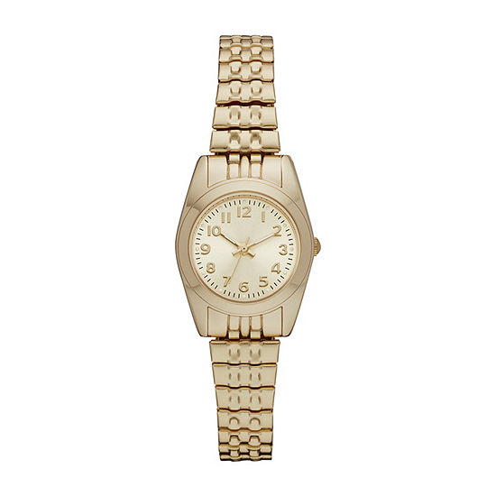 Womens Gold Tone Expansion Watch-Fmdjo135