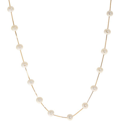 14K Gold 17 Inch Solid Box Chain Necklace