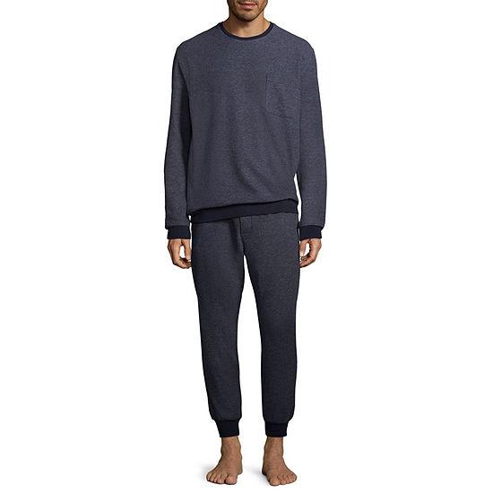 Stafford Mens Pant Pajama Set 2 Pc Long Sleeve