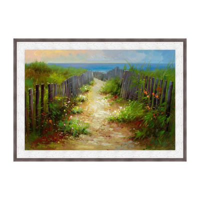 Footpath To The Sea Framed Print