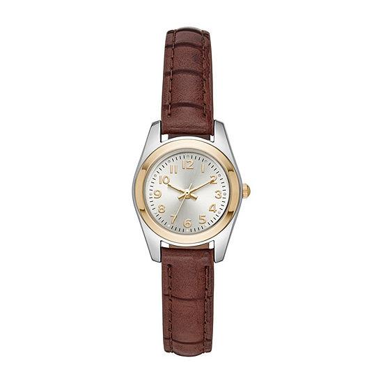 Womens Brown Strap Watch-Fmdjo138