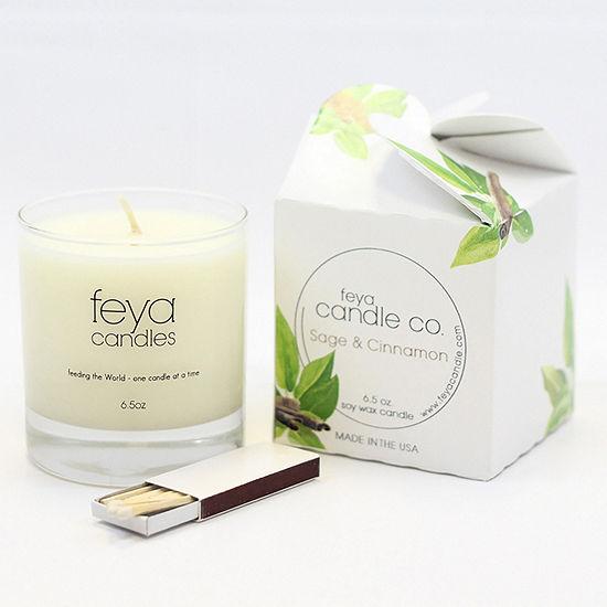 Feya Candle 6.5oz Sage & Cinnamon Soy Candle
