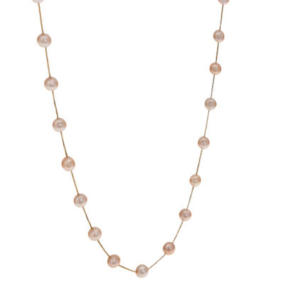 14K Gold Solid Box 17 Inch Chain Necklace
