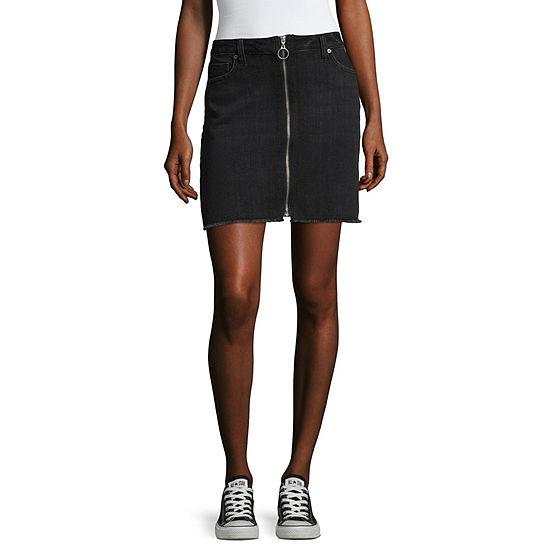 Brooklyn - Top Pick - Arizona Zip Ring Denim Skirt-Juniors