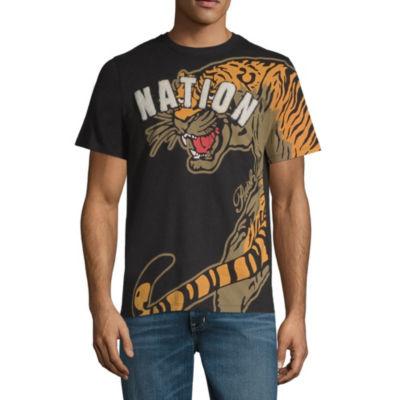 Parish Mens Crew Neck Short Sleeve Graphic T-Shirt