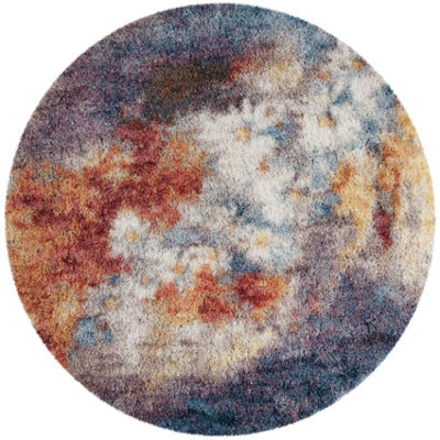 Safavieh Gypsy Collection Corina Abstract Round Area Rug