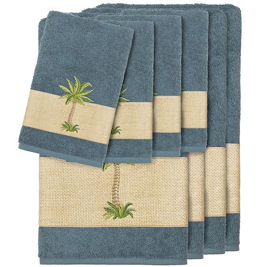 Linum Home Textiles 100% Turkish Cotton Colton Embellished Towel Set