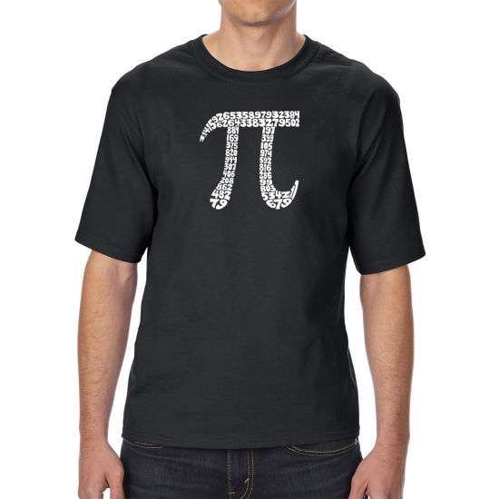Los Angeles Pop Art Men's Tall and Long Word Art T-shirt - THE FIRST 100 DIGITS OF PI