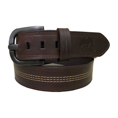 Berne Mens Belt with Contrast Stitching