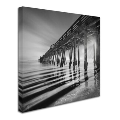 Trademark Fine Art Moises Levy Pier and Shadows Giclee Canvas Art