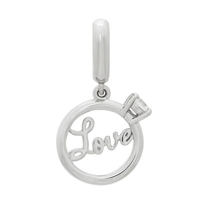 Ps Personal Style White Cubic Zirconia Sterling Silver Round Charm