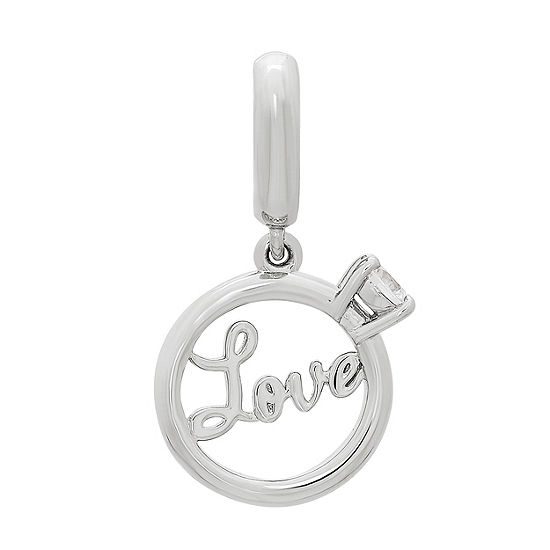 PS Personal Style White Cubic Zirconia Round Charm