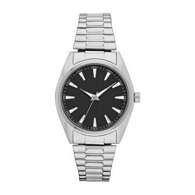 Mens Silver Tone Expansion Watch-Fmdjo144