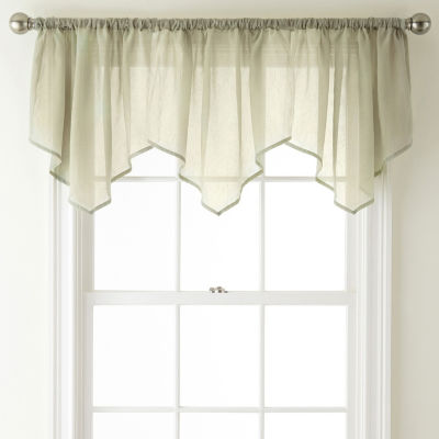 Home Expressions Rod-Pocket Ascot Valance