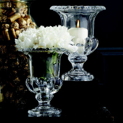 Two's Company Set Of 2 Neoclassical Urn Candleholders/Vases