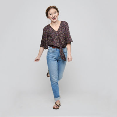 Brooklyn - Top Pick - Arizona Knot Front Tee and Highrise Jeans